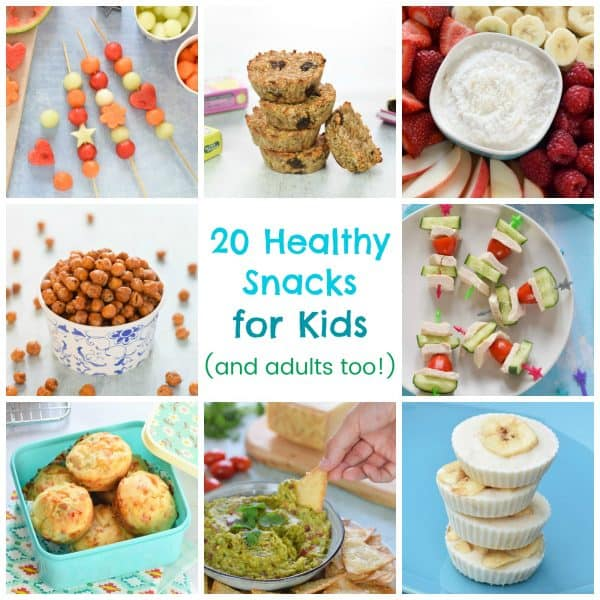 20 easy healthy snack recipes and ideas for kids and adults