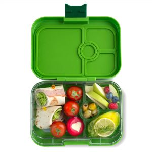 Buy the Yumbox Panino divided lunch box in Avocado Green from the Eats Amazing shop UK - fun kids bento boxes