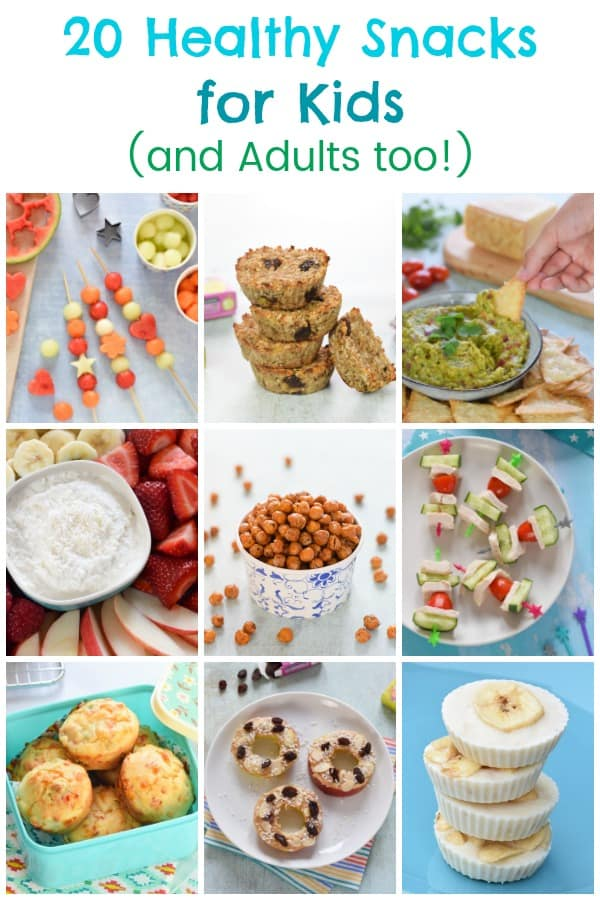 Healthy Snacks for kids and adults - 20 fun and easy snack ideas and recipes #EatsAmazing #healthysnacks #healthysnacksforkids #snacks #snackideas #healthykids #kidsfood #organicfood #easyrecipe #recipes