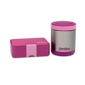 Pack hot and cold foods for lunch with the Yumbox range of bento boxes and thermos food flasks from the Eats Amazing UK Shop - purple