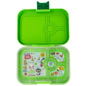 Yumbox Panino divided lunch box in Avocado Green from the Eats Amazing Shop UK - fun kids bento boxes