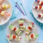 Yummy savoury skewers ideas - these quick and easy recipes are perfect for healthy party food for kids