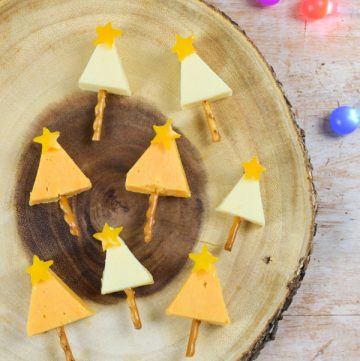 How to make cheese Christmas trees - fun Christmas party food appetiser or festive snack for kids