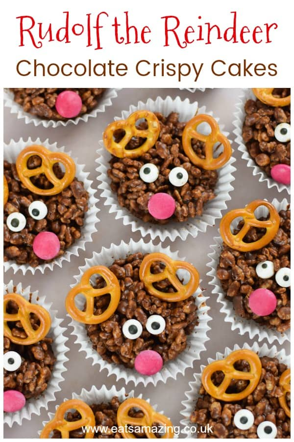 Quick And Easy Rudolf Reindeer Crispy Cakes Recipe With Video Tutorial