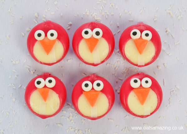 Fun penguin themed party food - how to make easy Babybel cheese penguins - fun food tutorial for kids with video and full printable instructions