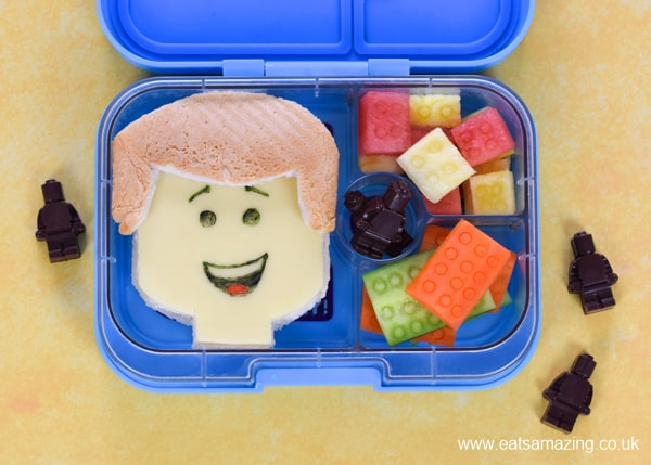 How to make a fun Lego themed lunch for kids - with Emmet sandwich and veggie Lego blocks inspired by the Lego Movie 2