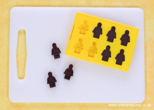 How to make dark chocolate Lego men - part of our fun Lego lunch inspired by The Lego Movie 2