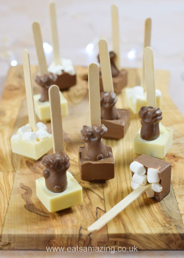 How to make hot chocolate stirrers - fun and easy gift recipe that kids can make themselves