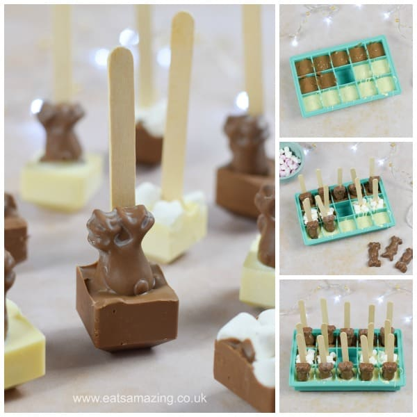 How to make hot chocolate stirrers - fun gift recipe for kids from Eats Amazing UK