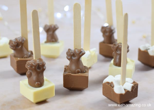 Quick and easy homemade hot chocolate stirrers recipe - fun Christmas gift idea for kids to make