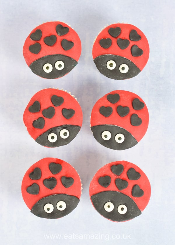Cute and easy Ladybug cupcakes recipe for kids - these fun love bug cupcakes are perfect for Valentines baking