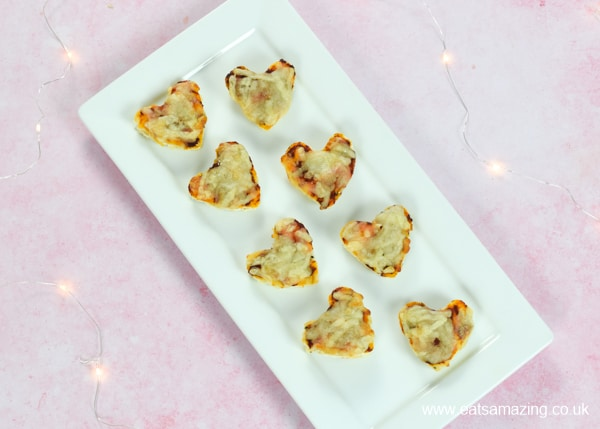 Easy naan bread pizza bites for kids - quick and easy fun food recipe that is perfect for lunch boxes and party food
