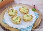 Egg and Cress Tortilla Cups recipe - cute flower shaped food for garden or fairy themed party food for kids