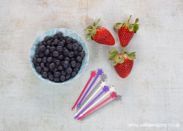 How to make Valentines fruit wands for kids - ingredients needed