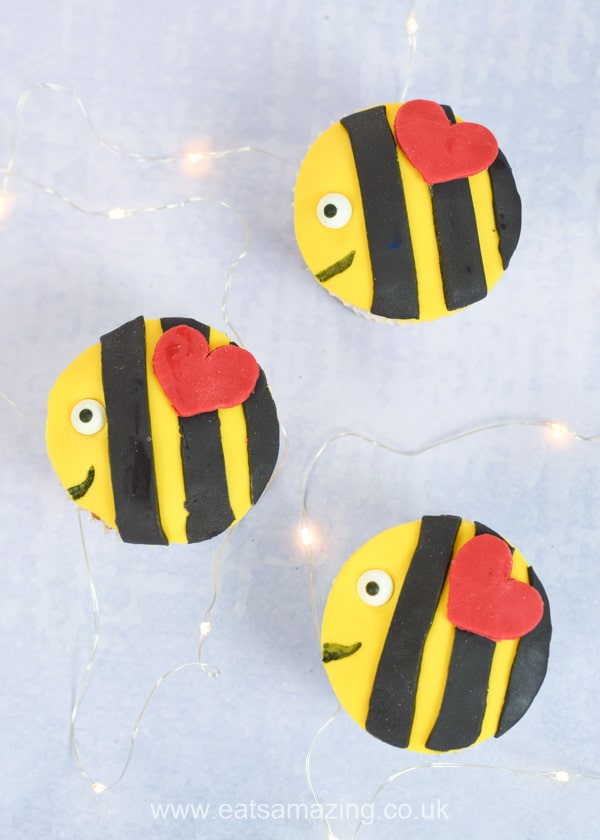 How to make easy bee cupcakes - full recipe and video tutorial for this fun bake with kids