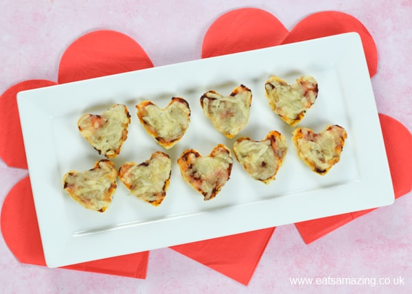 Quick and easy 5 minute pizza bites - fun recipe for kids that is great for using up leftover naan bread