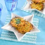 Delicious carrot and coriander oven baked fritters recipe - a great kid friendly side dish or vegetarian main