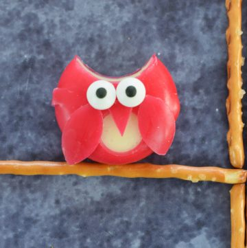 How to make a Babybel cheese owl - fun and easy party food idea for kids
