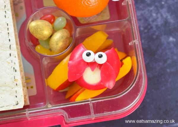 How to make a fun Harry Potter themed lunch - with video tutorial - babybel cheese owl close up