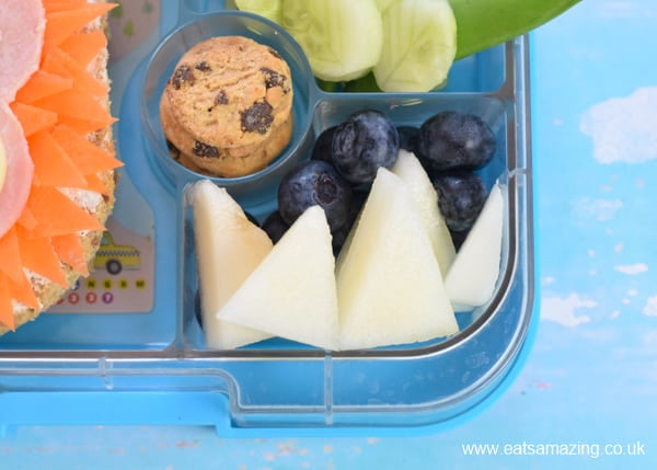 How to make a fun Missing Link themed bento lunch for kids - cute movie themed food art -fruit mountains
