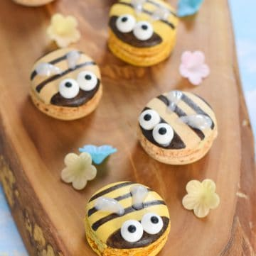 How to make bee macarons - fun and easy bee themed party food idea for kids