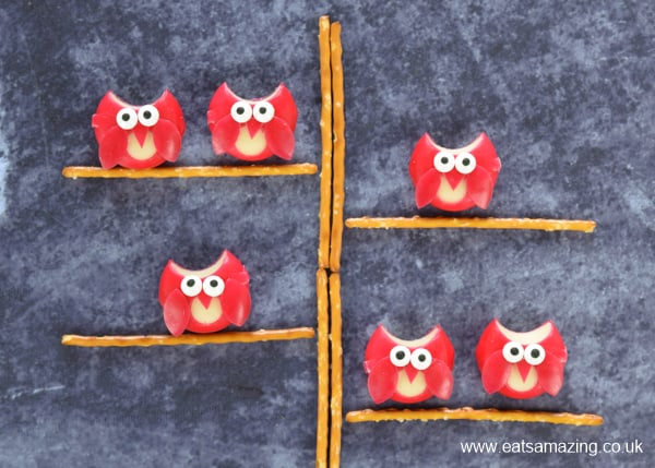 How to make cute cheese owls - fun and easy food for kids for party food or Halloween