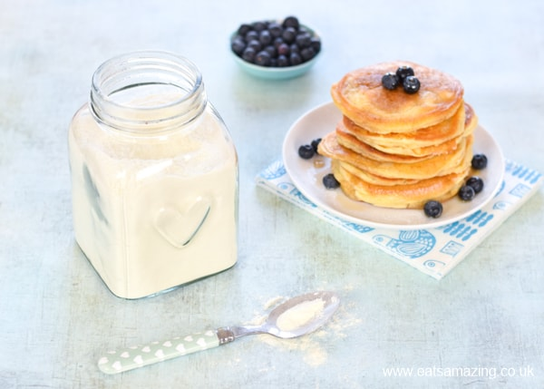 Make your own instant pancake mix - a great eco-friendly recipe for a quick and easy family breakfast