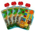Nom-nom kids reusable food pouches - set of 4