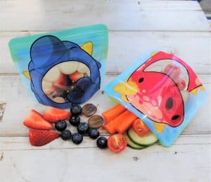 Nom-nom kids reusable snack bags - eco friendly alternative to plastic bags from the Eats Amazing Shop