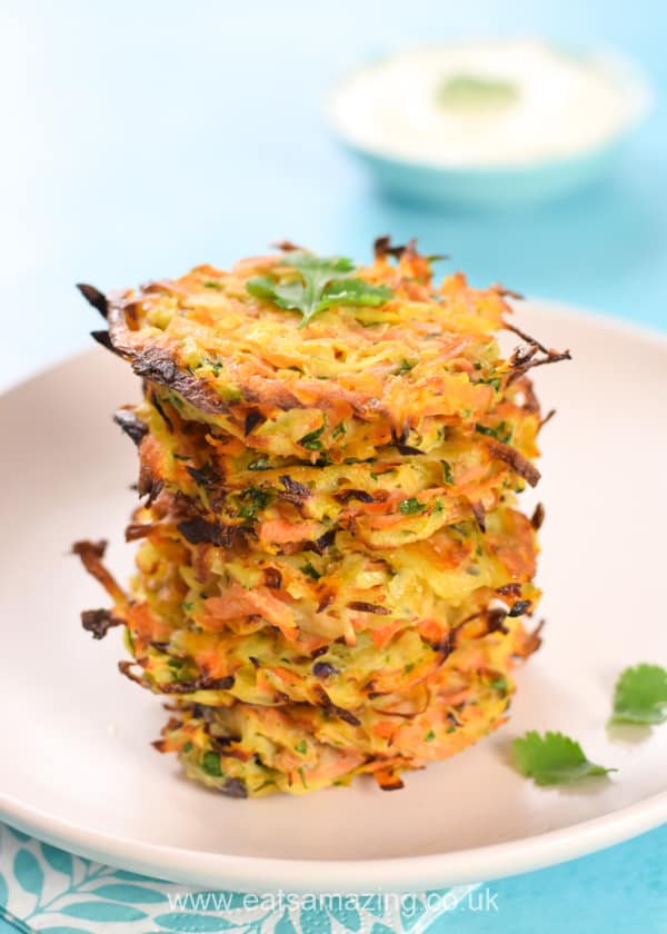Yummy carrot and coriander fritters recipe from the book Get your Kids to Eat Anything by Emily Leary