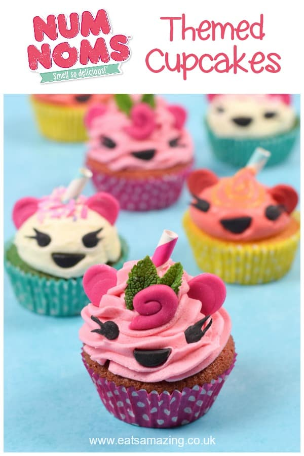 Cute and easy Num Noms themed cupcakes recipe - fun birthday party food idea for kids