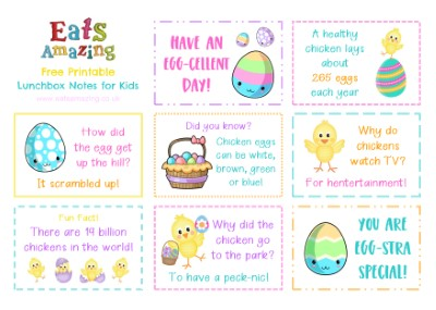 Easter Chick Themed FREE Printable Lunchbox Notes for kids - head over to the blog post to download and print your own set