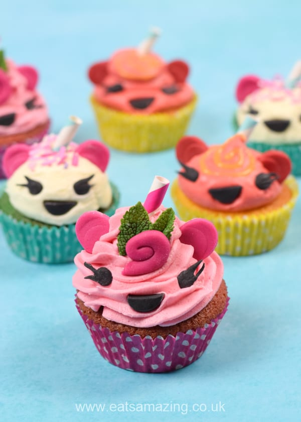 How to make cute and easy Num Noms cupcakes - fun recipe inspired by Spark Smoothies Num Noms