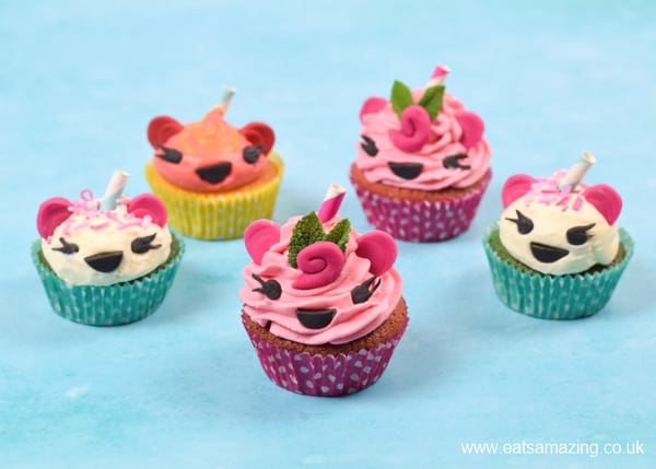How to make fun Num Noms themed cupcakes - easy recipe for kids party food