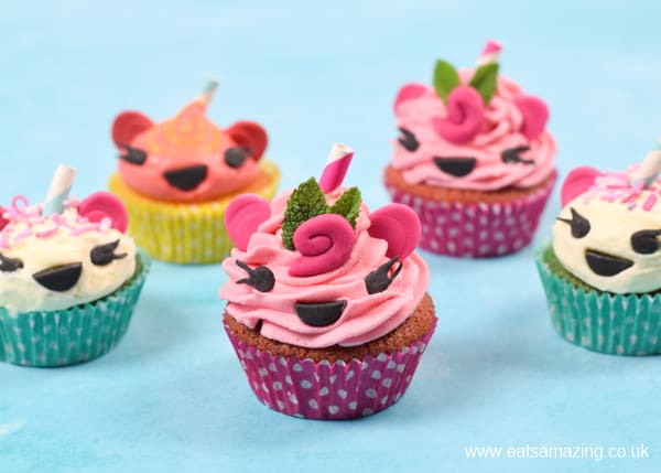How to make cute Num Noms cupcakes - with recipe video tutorial