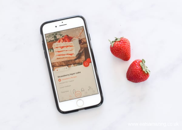 Cake Factory App from Tefal - Strawberry Layer Cake Recipe