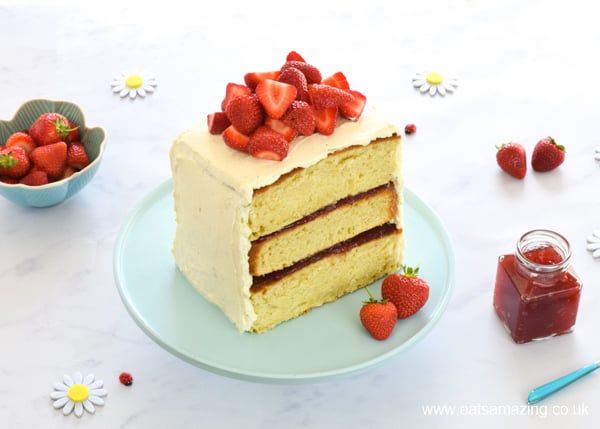Easy Strawberry Layer Cake Recipe with Tefal Cake Factory
