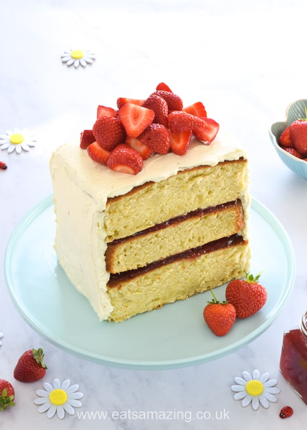 Tefal Cake Factory Strawberry Layer Cake recipe with tutorial video