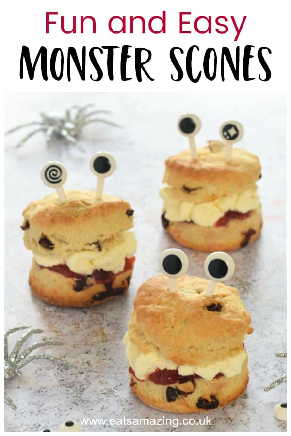 Fun and easy Monster scones recipe made in the Tefal Cake Factory - great for Halloween desserts and party food for kids