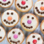 Fun and easy shortbread snowman Christmas cookies recipe for kids
