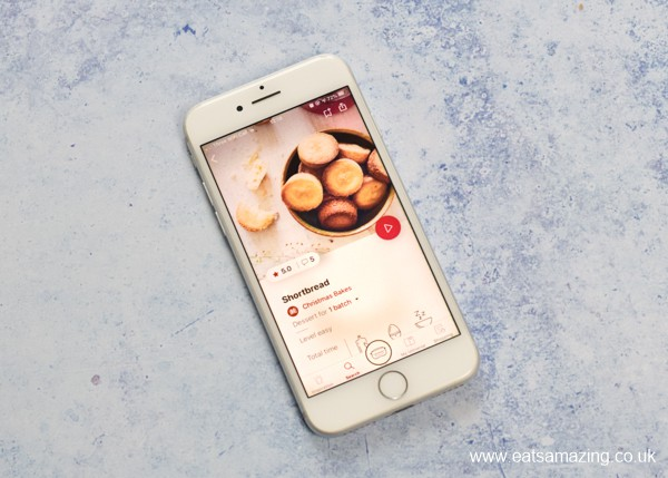 Tefal Cake Factory App on the iphone - Shortbread Recipe