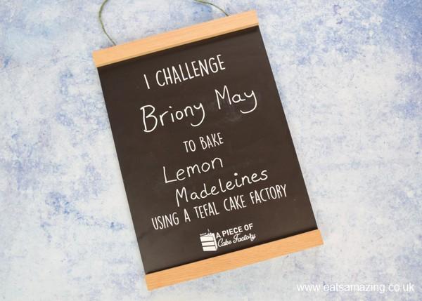 Tefal Cake Factory Blogger Challenge Chalkboard