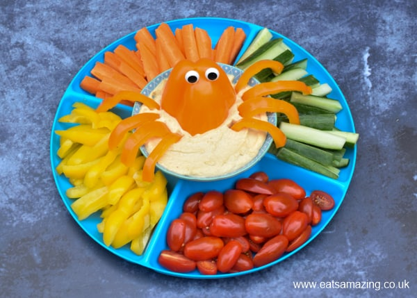 Cute and easy octopus crudite platter - fun and healthy party food idea for kids