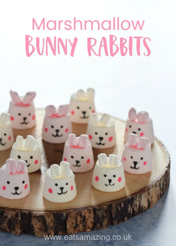 Fun Easter treat for kids - Marshmallow bunnies tutorial with step by step photos