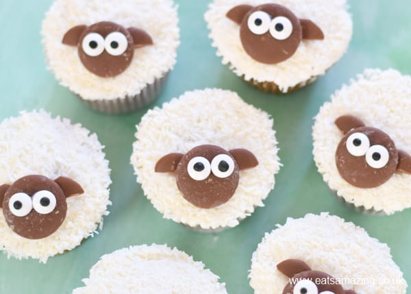 Fun and easy lamb cupcakes recipe - great Easter treat for kids