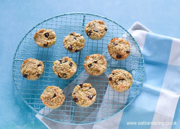How to make banana oat cookie bites recipe - step 5 - remove from muffin cups and cool on a wire rack