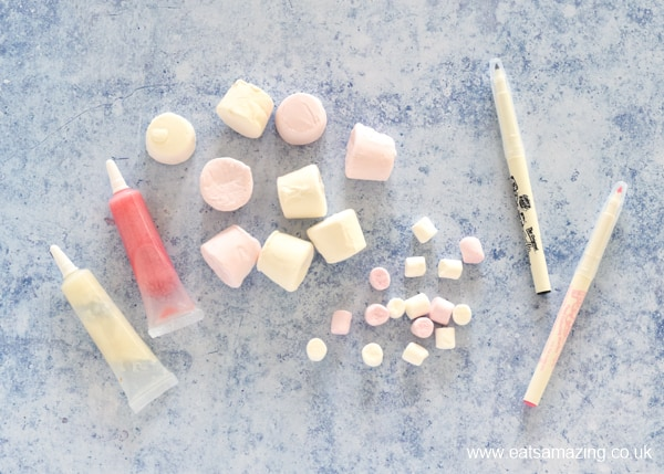 How to make bunny marshmallows - supplies needed