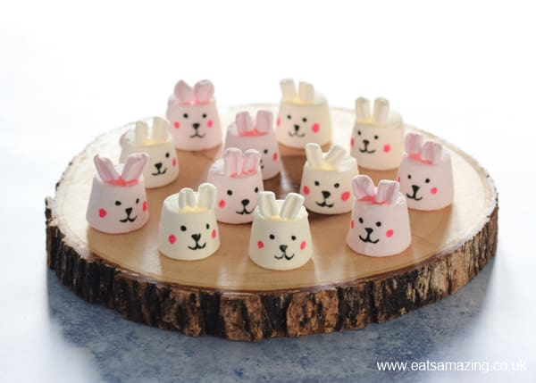 How to make cute and easy Easter Bunny Marshmallows - fun Easter recipe for kids