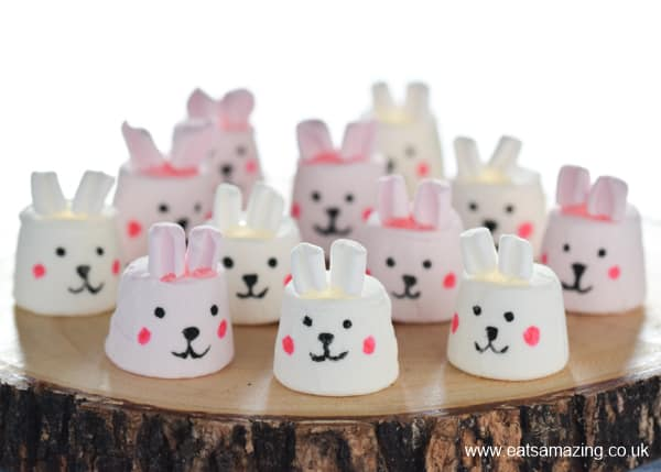 How to make cute and easy bunny marshmallows - fun Easter treat for kids