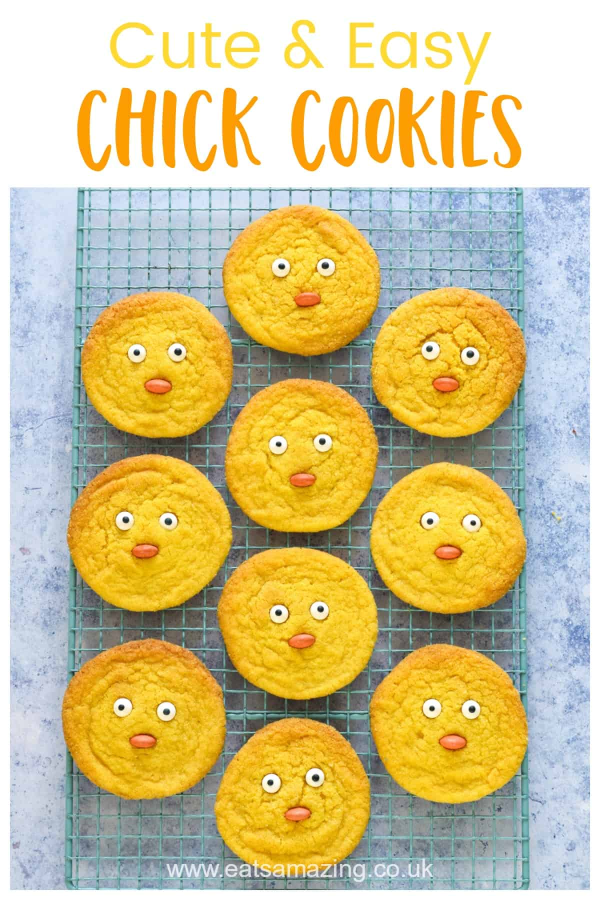 Cute chick cookies recipe - fun and easy Easter recipe for kids